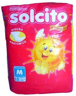 Comprar Pañal Bebe Solcito Mediano