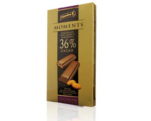 Comprar Tableta Moments 36% Cacao + Almendras
