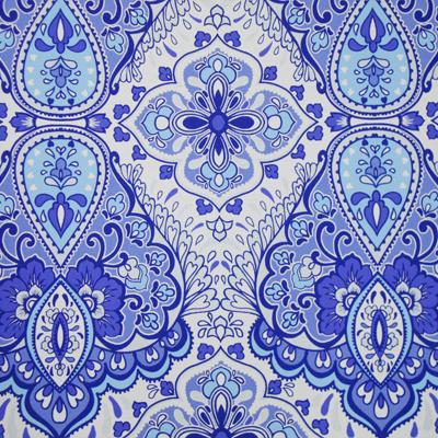 Comprar Papel tapiz Bizantino azul y blanco