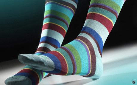 "Comprar Calcetines de caballero ""GALLO"" - Rayas multicolores (Azul)"