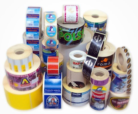 Comprar ETIQUETAS EN ROLLO, TAPE IMPRESO, STICKER, CALCOMANIAS