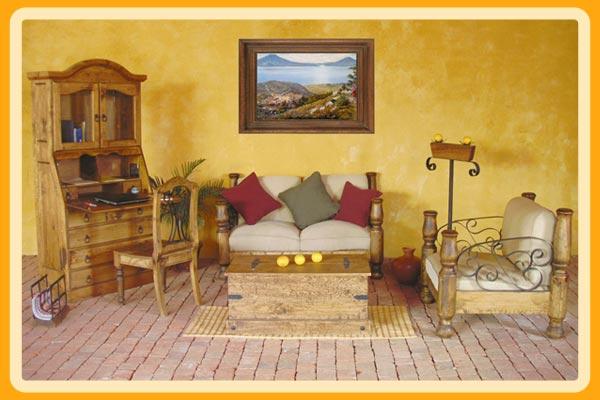 de living, de Cristal Muebles Rústicos, Empresa Muebles de madera en
