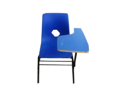 Silla escolar de color azul