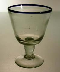 Copa de Vino Orilla Azul