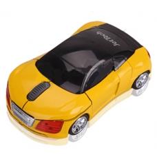 Mouse carro deportivo inalambrico amarillo