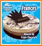 Tárta Mousse de Triple Chocolate