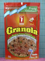 Cereal Granola con Fruta Cristalizada y Miel de