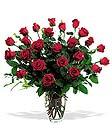 Ramo 24 Rosas en Florero de Vidrio