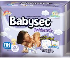 Pañales Babysec Recién Nacido