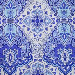 Papel tapiz Bizantino azul y blanco
