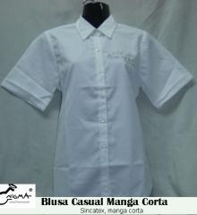 Blusa casual manga corta