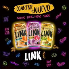 Aguas Gaseosas LINK de Guatemala, cola Champan