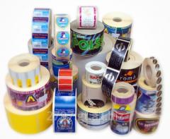 Etiquetas adhesivas, tape impreso, stickers