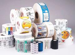 Etiquetas adhesivas en rollo, tape impreso,