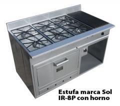 Estufa marca Sol IR 8P con horno