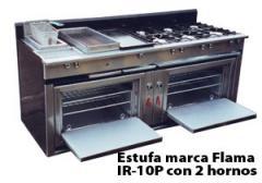 Estufa marca Flama IR 10P con 2 hornos