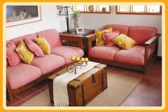 Muebles rústicos de living