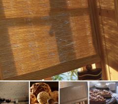 Cortinas de madera horizontales