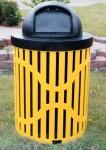 Cajón de la basura de color amarillo