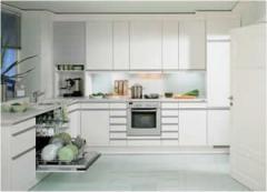 Cocina de color blanco