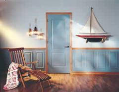 Puerta de color azul