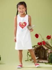 Vestido blanco con corazón LZC niña 2 a 14 años