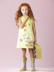 Vestido pistacho niña 2 a 14 años