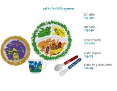 Set infantil Crayones
