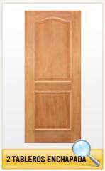 Puerta de madera 2 tableros enchapada