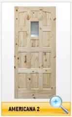 Puerta de madera Americana 2