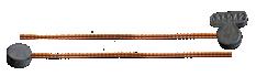 Plomo cola cobre
