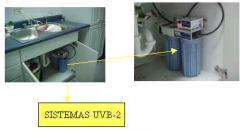 Purificador de agua residencial UVB-2