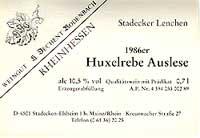 Vino 86er Stadecker Lenchen