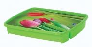 Cubiertera Decora Floral 5 Divisiones